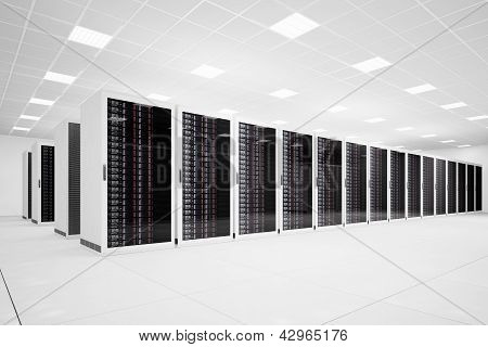 Data Center With Long Row Angular