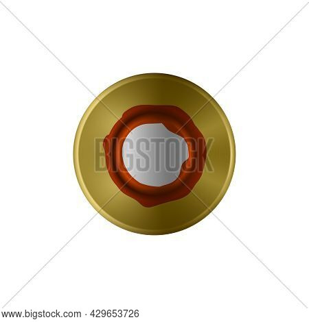Bottom View Of Bullet Cartridge Realistic Vector Illustration