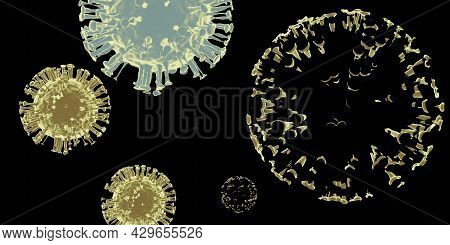 Coronavirus Disease Covid-19 Infection Medical Illustration. China Pathogen Respiratory Influenza Co