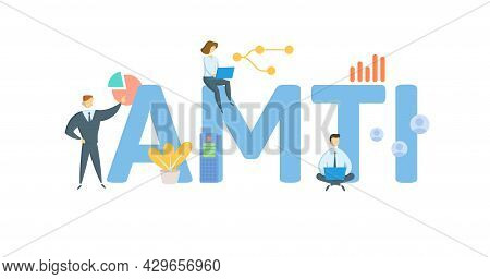 Amti, Alternative Minimum Taxable Income. Concept With Keyword, People And Icons. Flat Vector Illust