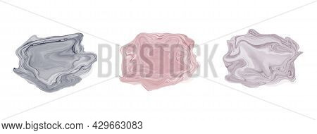 Set Beautiful Abstract Watercolor Art Hand Paint On White Background,brush Textures For Logo.there I