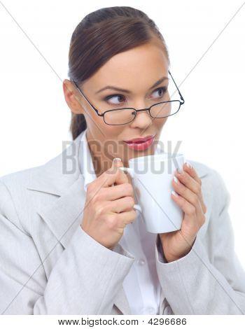 Cute Business Woman