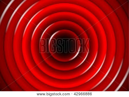 Abstract Background With Glossy Red Circles