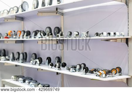 Various Type And Size  Castor Wheel Or Trolley Wheel For Furniture Or Industrial Storage On Shelf
