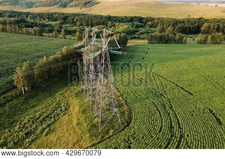 Transmission Tower, High Voltage Pylons, Power Transmission Lines.