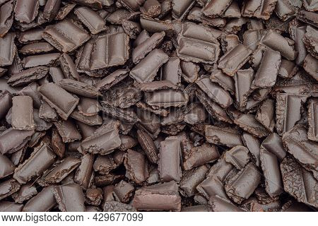 Hot Briquetted Iron Close-up. Lumps Of Ore Concentrate. Semi-finished Product Of The Metallurgical P