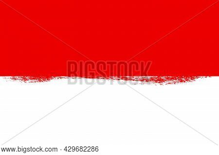 Simple Blank Vector Template Background, Indonesia Independence Day In August Element Design With Cr