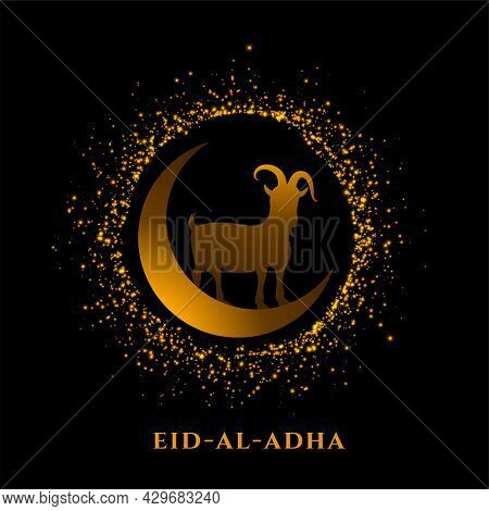 Eparkling Eid Al Adha Bakrid Festival Greeting Design Vector Illustration