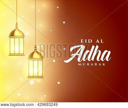 Arabic Style Eid Al Asha Festival Card Design