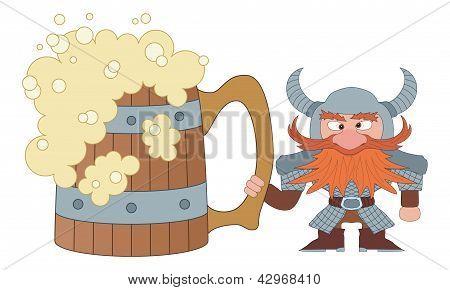Dwarf with great beer mug