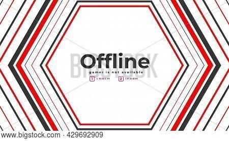 Currently Offline Twitch Gaming Banner Design Vector Illustration
