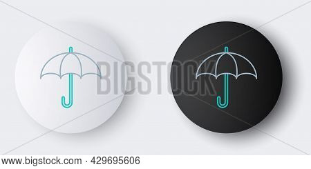 Line Umbrella Icon Isolated On Grey Background. Insurance Concept. Waterproof Icon. Protection, Safe