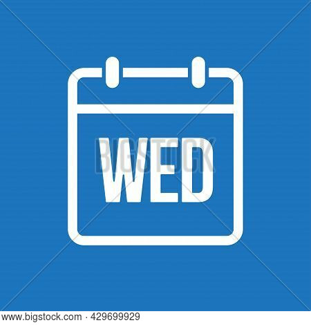 Template Icon Page Calendar, Day Of Week Wednesday