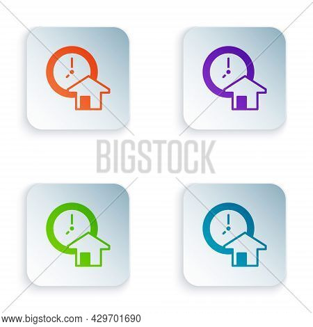 Color Time Is Money Icon Isolated On White Background. Money Is Time. Effective Time Management. Con