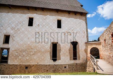 Town Zebrak In Central Bohemia, Czech Republic, 24 July 2021: Medieval Royal Gothic Castle Tocnik, G