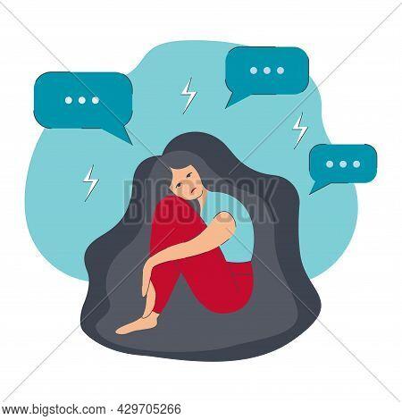 Girl Sitting, Hugging Knees 12-1 Dd Ww Isol