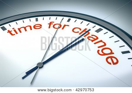 An image of a nice clock with time for change
