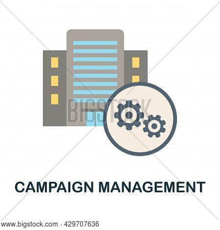 Campaign Management Flat Icon. Colored Sign From Customer Management Collection. Creative Campaign M