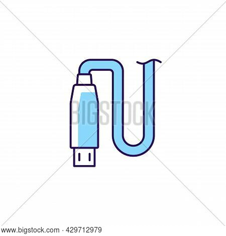 Micro Usb Output Rgb Color Manual Label Icon. Connector Type. Connecting Device To Usb Port. Using M