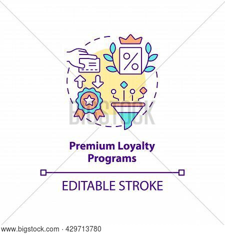 Premium Loyalty Programs Concept Icon. Paid Program Abstract Idea Thin Line Illustration. Pay Fees T