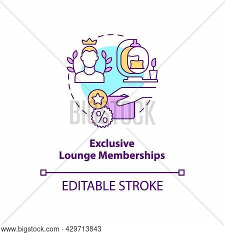 Exclusive Lounge Memberships Concept Icon. Premium Lounge Access Abstract Idea Thin Line Illustratio