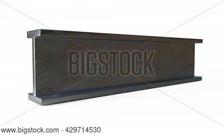 Flange Beam Metal Profile. Isolated Digital Industrial 3d Illustration