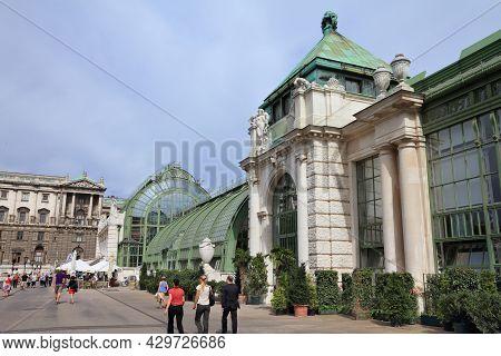 Vienna, Austria - September 7, 2011: People Visit Burggarten Area In Vienna, Austria. Historic Centr