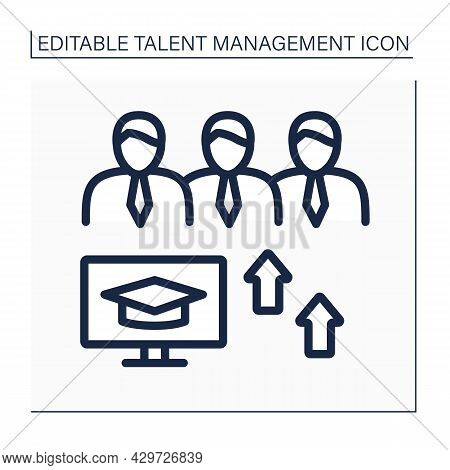 Internship Programs Line Icon. Project-oriented Learning Opportunity To Gain Experience Through Rese