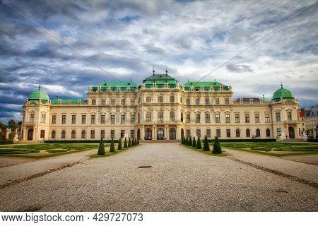 Vienna, Austria - September 7, 2011: Belvedere Palace And Gardens In Vienna. Belvedere Is A Landmark