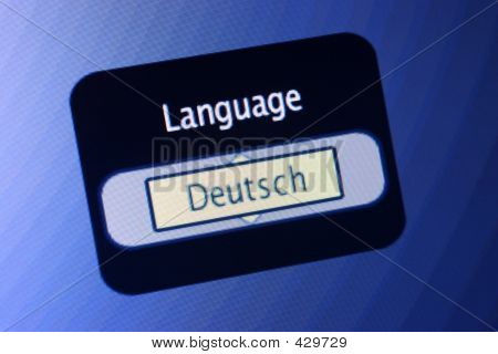 Language Sign - German