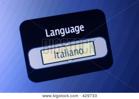 Language Sign - Italian