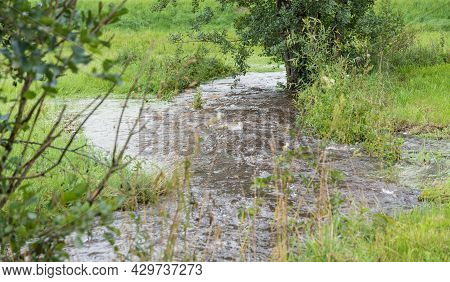 Flooding And Inundation After A Storm By A Stream