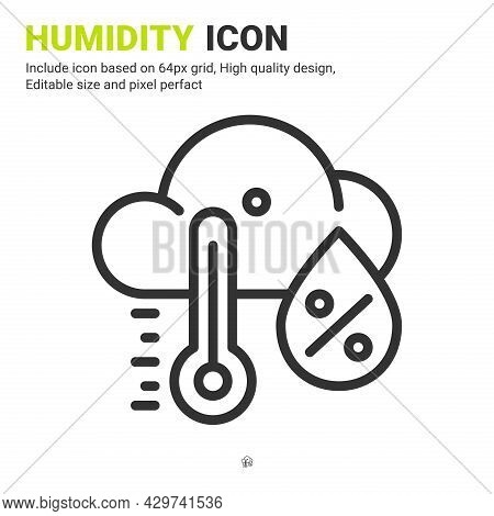 Humidity Premium Icon With Multiple Style Isolated On White Background From Ecology Collection. Vect