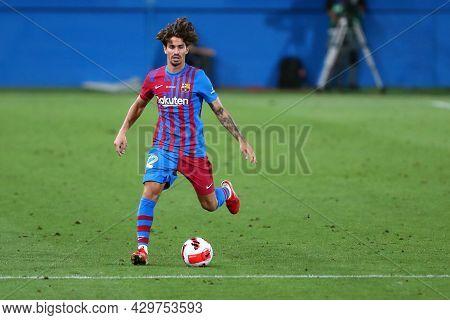 Barcelona, Spain. 08th August 2021 . Alex Collado Of Fc Barcelona  During The Pre-season Friendly Ma