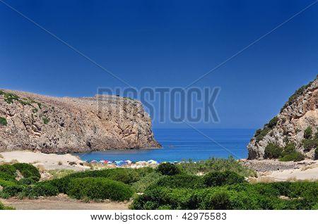 View Of Cala Domestica Beach, Sardinia, Italy