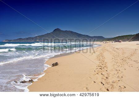San Nicolao Beach At Buggerru, Sardinia, Italy