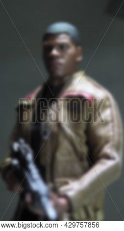 Toys Figure. Blurred Images Of Star Wars Figure. Close Up Images.