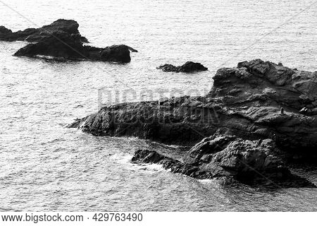 Beautiful View Of The Coast Of Cabo De Palos With Its Cliffs And Coves In The Morning In Summer. Mon