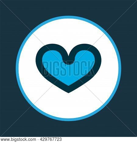 Soul Icon Colored Symbol. Premium Quality Isolated Heart Element In Trendy Style.