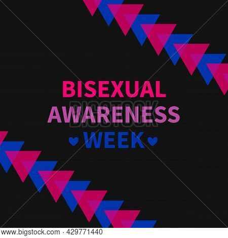 Bisexual Awareness Week Typography Poster. Lgbt Community Event Celebrate On September. Easy To Edit