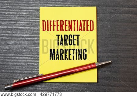 Conceptual Hand Writing Showing Niche Market. Business Photo Text Subset Of The Market On Which Spec