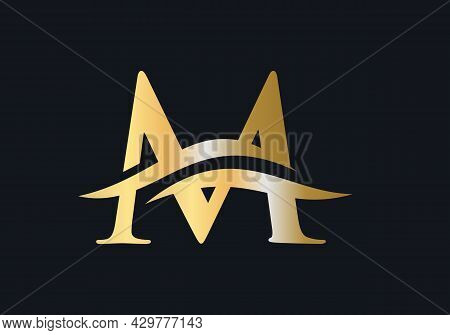 M Logo Design For Business And Company Identity. Creative M Letter Logo With Luxury Concept.