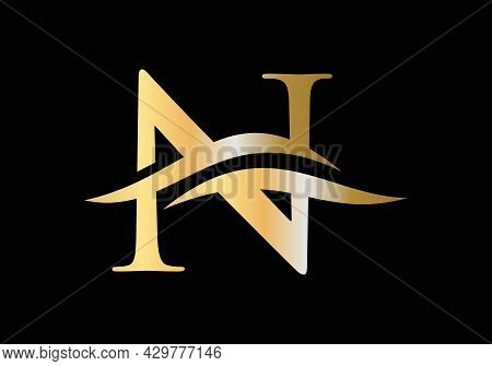N Letter Logo With Luxury Concept. Modern N Logo Design For Business And Company Identity