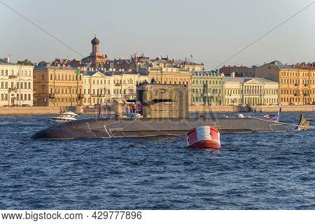 Saint Petersburg, Russia - July 26, 2021: Diesel-electric Submarine B-586