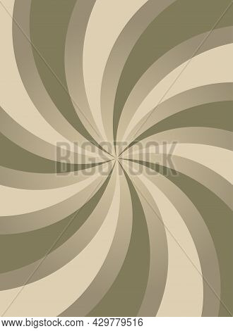 Sunlight Abstract Background. Chocolate Brown Color Burst Background. Retro Vector Illustration. Sun