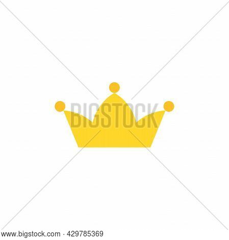 Golden Crown Icon Isolated On White. Royal, Luxury, Vip, First Class Sign. Winner Award. Monarchy, A