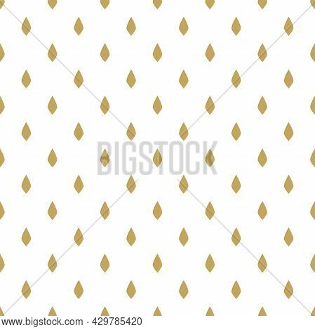 Royal Mantle Texture. Ermine Fur Seamless Pattern. Gold Strokes Or Seeds On White Background. King S