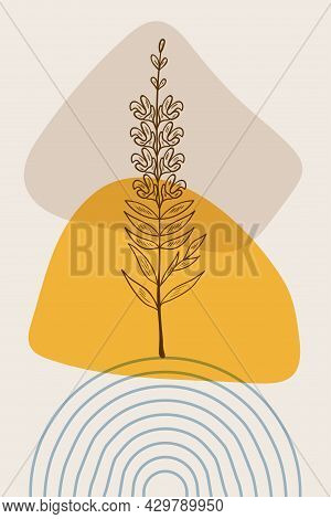 Snapdragon, Abstract, Poster, Minimal Dd Ww Herb