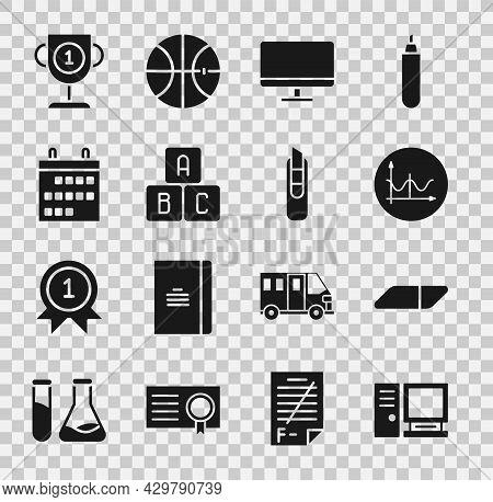Set Computer Monitor, Eraser Rubber, Graph, Schedule, Chart, Diagram, Screen, Abc Blocks, Calendar,