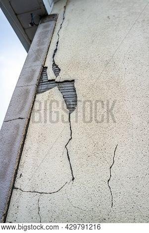 Donegal, Ireland - June 12 2021 : Many Houses In Ireland Are Crumbling Down Due To Pyrite Or Mica In